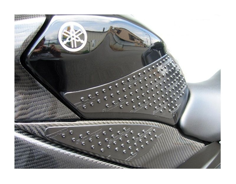 Non-slip Side Tank Protection Motorcycle Race Grip Evo Black Set of 2