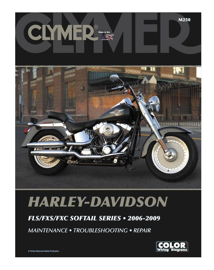 clymer manual harley davidson fls fxs fxc softail series 2006 2009 cycle gear. Black Bedroom Furniture Sets. Home Design Ideas