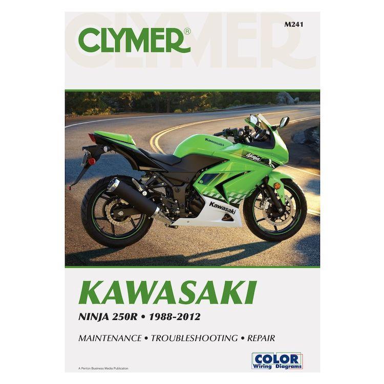 clymer manual kawasaki ninja 250r 1988 2012 cycle gear rh cyclegear com kawasaki ninja 250r service manual kawasaki ninja 250r manual 2012