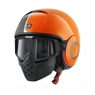 Shark Drak Stripe Helmet (Color: Black/Orange / Size: XL) 1125322