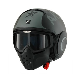 Shark Drak Soyouz Helmet (Color: Matte Black/Grey / Size: MD) 894076