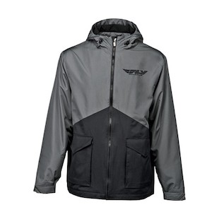 Fly Racing Pit Jacket (Color: Black / Size: 2XL) 913117