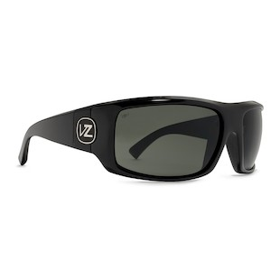 VonZipper Clutch Sunglasses (Color: Black Gloss w/Polarized Lens) 910872