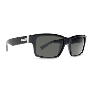 VonZipper Fulton Sunglasses (Color: Black Gloss w/Polarized Lens) 914213