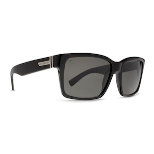 VonZipper Elmore Sunglasses (Color: Black Gloss w/Polarized Lens) 914227