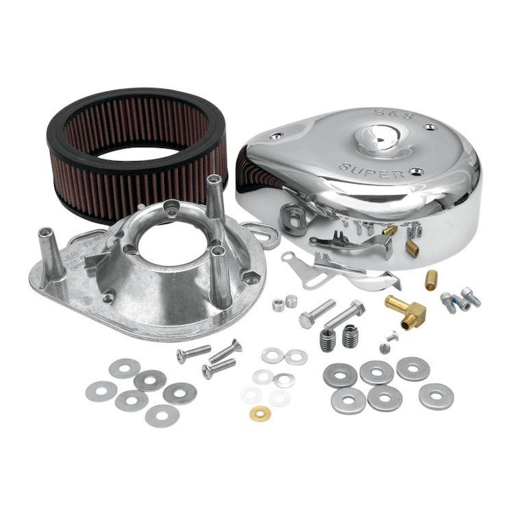S&S Teardrop Air Cleaner Kit For Super E&G Carburetors For Harley Big Twin Evo 1984-1992 / Evo Sportster 1986-1990
