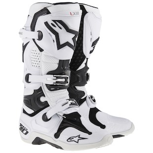 Alpinestars Tech 10 Vented Boots (Color: White / Size: 8) 915166