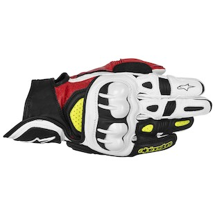 Alpinestars GPX Gloves (Color: Black/Red/Fluo Yellow / Size: 2XL) 915258