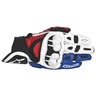 Alpinestars GPX Gloves (Color: White/Red/Blue / Size: 2XL) 915262