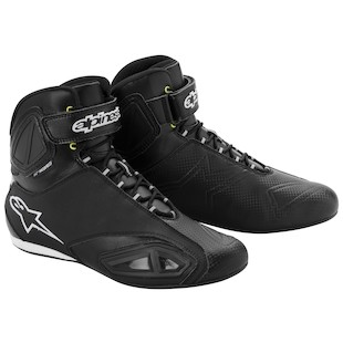 Alpinestars Fastlane WP Shoes (Color: Black/Yellow / Size: 10) 914644
