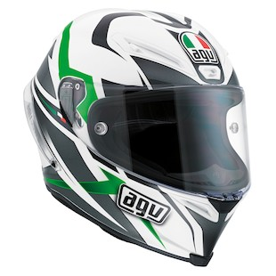 AGV Corsa Velocity Helmet (Size 2XL Only) (Color: White/Black/Green / Size: 2XL) 918359