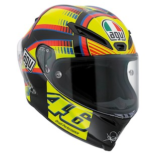 AGV Corsa Sole Luna Rossi Helmet (Size MS Only) (Color: Yellow/Black/Blue / Size: MS) 918330