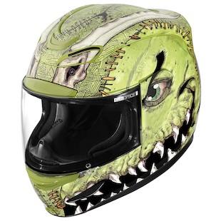 Icon Airmada Future Suture Helmet (Color: Green/Black / Size: 2XL) 917790