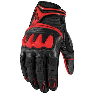 Icon Overlord Resistance Gloves (Color: Red / Size: LG) 917896