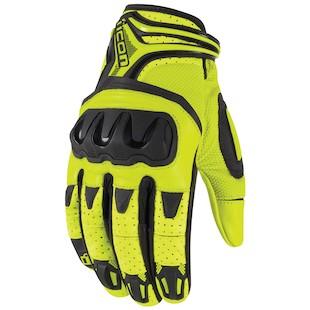 Icon Overlord Resistance Hi-Viz Gloves (Color: Hi-Viz Yellow/Black / Size: SM) 917899