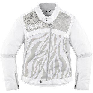 Icon Hella 2 Women's Jacket - (Size MD Only) (Color: White / Size: MD) 918188
