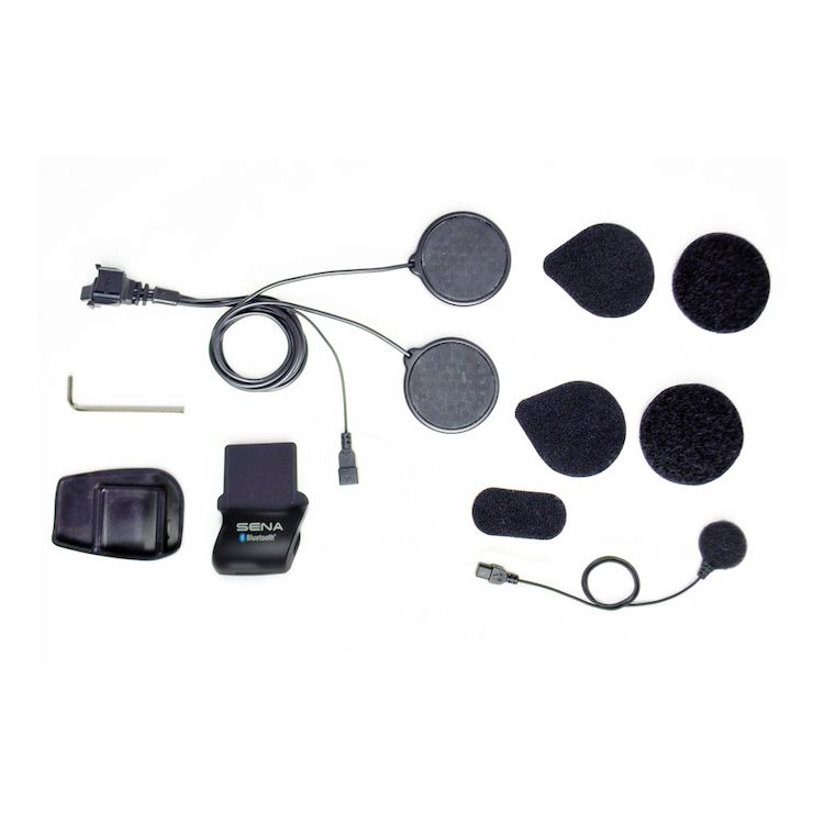 Sena SMH5 / SMH5-FM / SPH10H-FM Helmet Clamp Kit With Locking-Type Connector - Wired Microphone