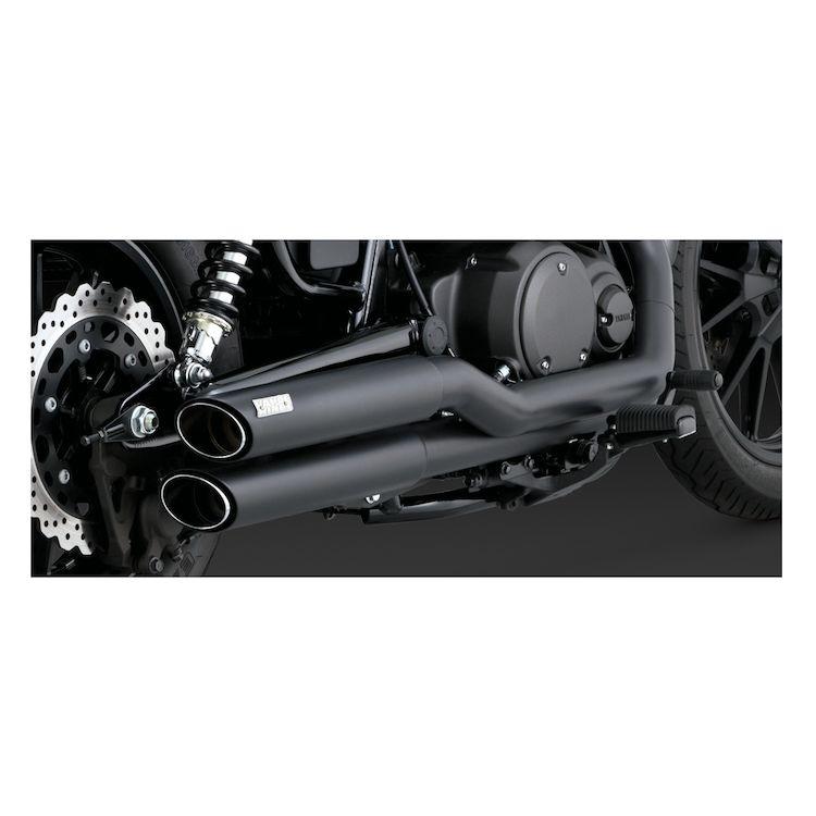 Vance & Hines Twin Slash Staggered Exhaust Yamaha Bolt 2014-2018
