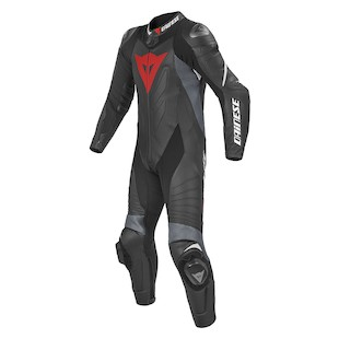 Dainese Laguna Seca EVO Perforated Race Suit [Size 50 Tall Only] (Color: Black/Anthracite/White / Size: 50 (Tall)) 925184
