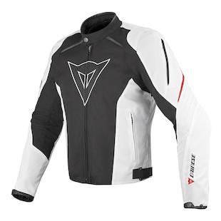 Dainese Laguna Seca Textile Jacket (Color: Black/White/Red / Size: 58) 926535