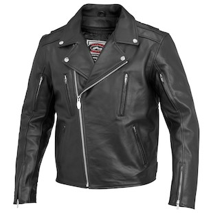 River Road Ironclad Leather Jacket (Color: Black / Size: 52) 932266