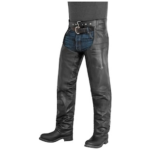 River Road Plains Leather Chaps (Color: Black / Size: SM) 932248