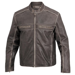 River Road Drifter Leather Jacket (Color: Brown / Size: 52) 932332