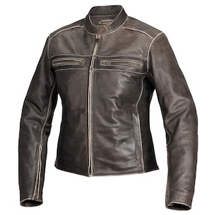 River Road Drifter Women's Leather Jacket (Color: Brown / Size: SM) 932334
