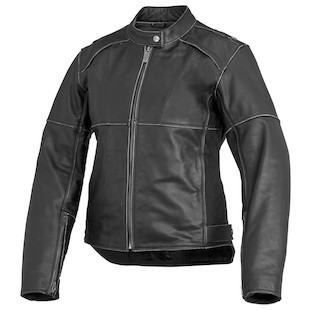River Road Rambler Women's Leather Jacket (Color: Black / Size: WMD) 932252