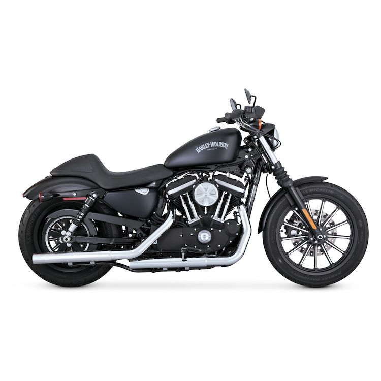 "Vance & Hines 2 1/2"" Straightshots HS Slip-On Mufflers For Harley Sportster 2014-2021"