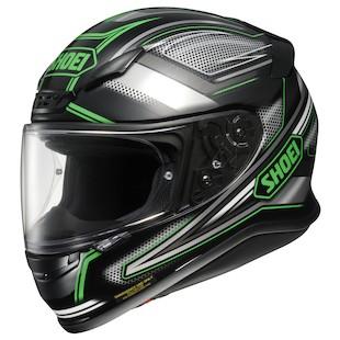 Shoei RF-1200 Dominance Helmet (Color: Black/Green / Size: 2XL) 933868