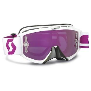 Scott Youth 89Si Pro Goggles (Color: Oxide White/Purple / Lens: Purple Mirror) 935319
