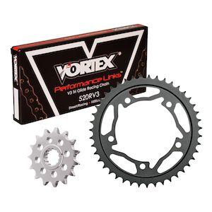 VORTEX STEEL REAR SPROCKET BLACK 43T Fits Suzuki GSX-R1000,GSX-R600,GSX-R750,SV