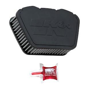 K&N Products Air Filter- Yamaha V-Stars XV950 09-up XV1300 07-up - YA-1307 45832
