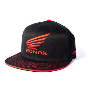 Factory Effex Honda Wing Flex-Fit Hat (Color: Black / Size: SM-MD) 936979