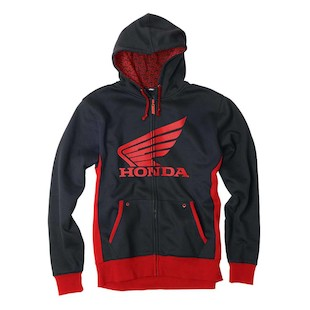 Factory Effex Honda Limit Hoody (Color: Black/Red / Size: XL) 937037