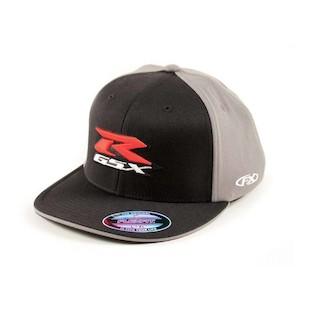 Factory Effex Suzuki GSX-R Flex-Fit Hat (Color: Black/Charcoal / Size: LG-XL) 937068