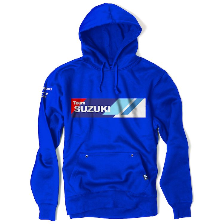 Mens Sweatshirt Factory Effex Suzuki Horizon Hooded Pullover Sweatshirt