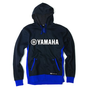 Factory Effex Yamaha Lined Hoody (Color: Black/Blue / Size: XL) 937414