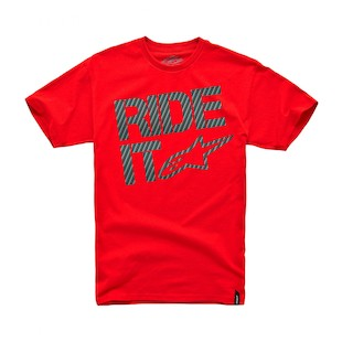 Alpinestars Ride It Carbon Fiber T-Shirt (Color: Red / Size: XL) 915790