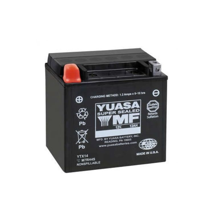 Yuasa YTX14H Factory Activated AGM High Performance Battery