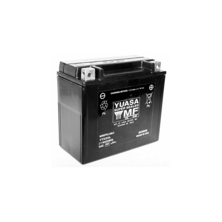 Yuasa YTX20L Factory Activated AGM Battery