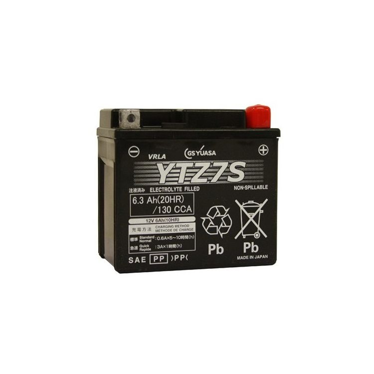Yuasa YTZ7S Factory Activated AGM High Performance Battery