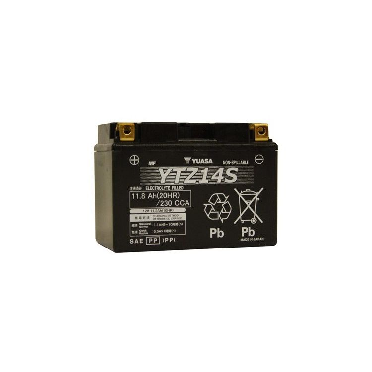 Yuasa YTZ14S Factory Activated AGM High Performance Battery
