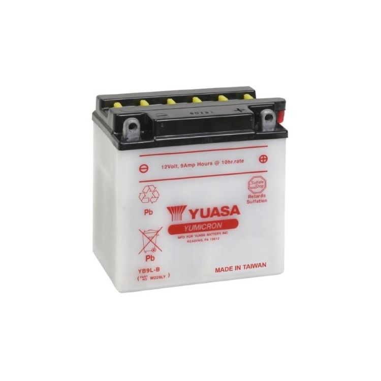 Yuasa YB9L-B Yumicron Conventional Battery