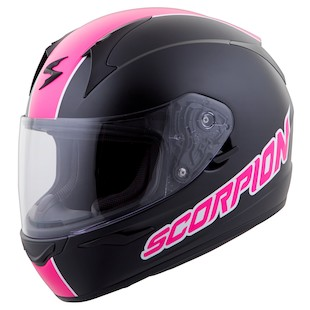 Scorpion EXO-R410 Split Helmet (Color: Black/Pink / Size: LG) 941206