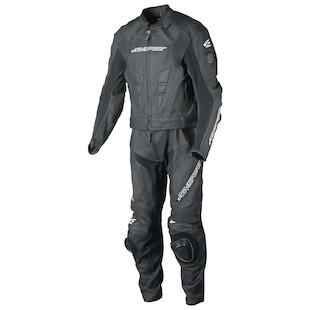AGV Sport Delta 2-Piece Race Suit (Color: Black/Black / Size: 42) 942284