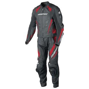 AGV Sport Delta 2-Piece Race Suit (Color: Black/Red / Size: 50) 942302