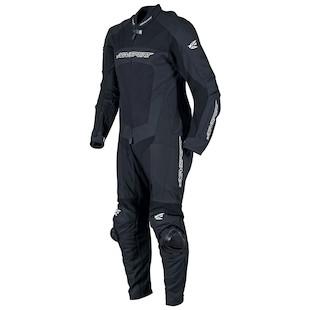AGV Sport Strike 1-Piece Leather/Textile Race Suit - (Sz 44 Only) (Color: Black / Size: 44) 942307