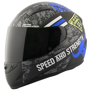 Speed & Strength SS1100 Full Face Motorcycle Helmet - Matte Black
